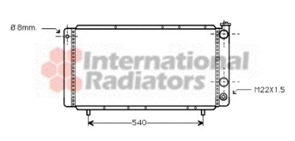 Radiateur, refroidissement du moteur - VAN WEZEL - 43002025