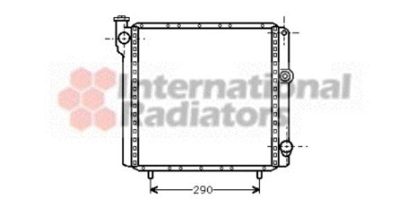 Radiateur, refroidissement du moteur - VAN WEZEL - 43002040