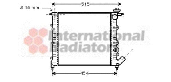 Radiateur, refroidissement du moteur - VAN WEZEL - 43002041