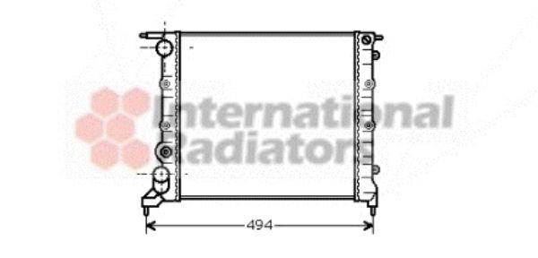 Radiateur, refroidissement du moteur - VAN WEZEL - 43002042