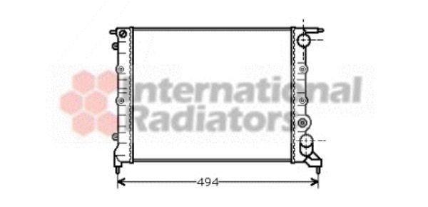 Radiateur, refroidissement du moteur - VAN WEZEL - 43002043