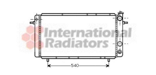 Radiateur, refroidissement du moteur - VAN WEZEL - 43002052