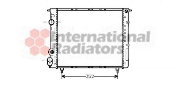 Radiateur, refroidissement du moteur - VAN WEZEL - 43002053