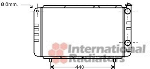 Radiateur, refroidissement du moteur - VAN WEZEL - 43002058