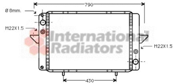 Radiateur, refroidissement du moteur - VAN WEZEL - 43002060