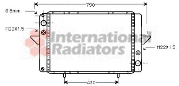 Radiateur, refroidissement du moteur - VWA - 88VWA43002060