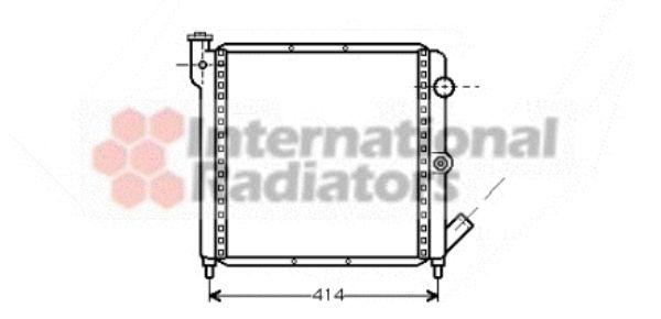 Radiateur, refroidissement du moteur - VAN WEZEL - 43002063