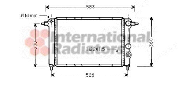 Radiateur, refroidissement du moteur - VAN WEZEL - 43002065