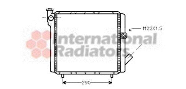 Radiateur, refroidissement du moteur - VAN WEZEL - 43002070
