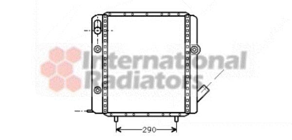 Radiateur, refroidissement du moteur - VAN WEZEL - 43002071