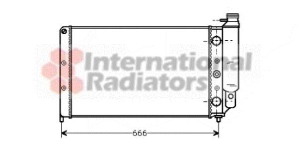 Radiateur, refroidissement du moteur - VAN WEZEL - 43002077