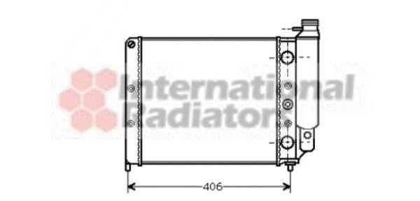 Radiateur, refroidissement du moteur - VAN WEZEL - 43002078