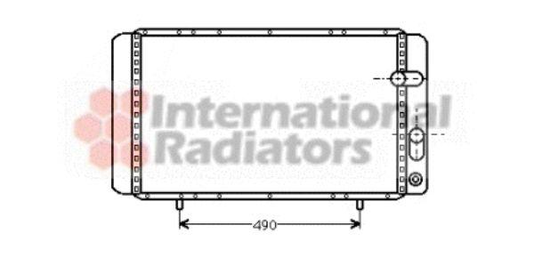 Radiateur, refroidissement du moteur - VAN WEZEL - 43002084