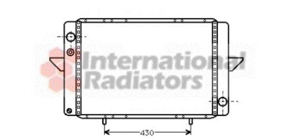 Radiateur, refroidissement du moteur - VAN WEZEL - 43002107