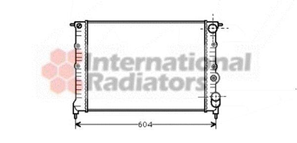 Radiateur, refroidissement du moteur - VAN WEZEL - 43002108