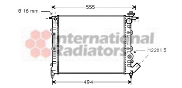 Radiateur, refroidissement du moteur - VAN WEZEL - 43002109