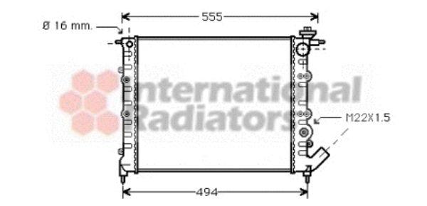 Radiateur, refroidissement du moteur - VWA - 88VWA43002109