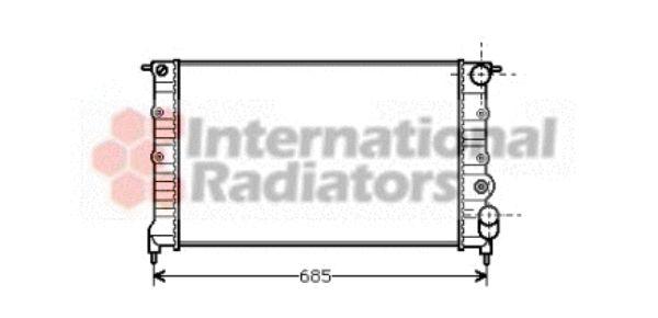 Radiateur, refroidissement du moteur - VAN WEZEL - 43002115