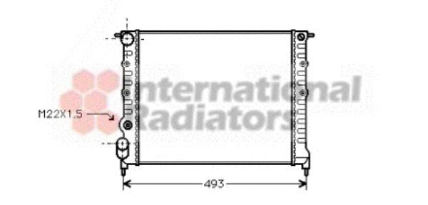 Radiateur, refroidissement du moteur - VAN WEZEL - 43002118
