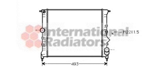 Radiateur, refroidissement du moteur - VAN WEZEL - 43002119