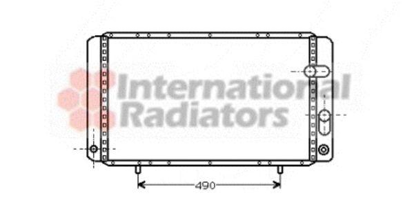 Radiateur, refroidissement du moteur - VAN WEZEL - 43002123