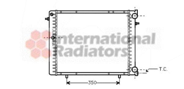 Radiateur, refroidissement du moteur - VAN WEZEL - 43002125