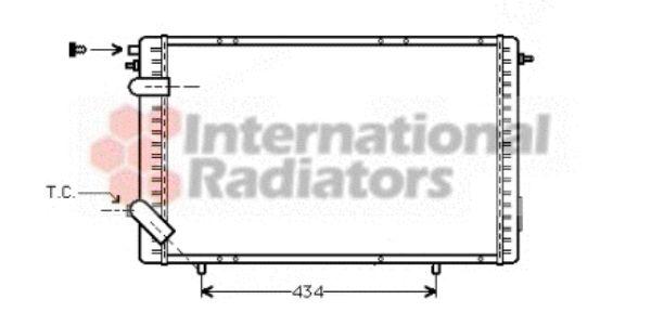 Radiateur, refroidissement du moteur - VAN WEZEL - 43002126