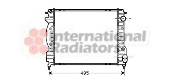 Radiateur, refroidissement du moteur - VAN WEZEL - 43002130