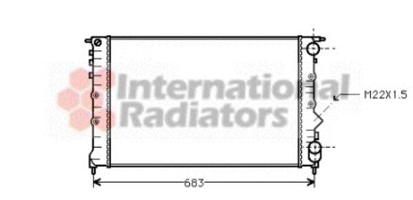 Radiateur, refroidissement du moteur - VAN WEZEL - 43002131