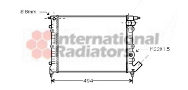 Radiateur, refroidissement du moteur - VAN WEZEL - 43002132