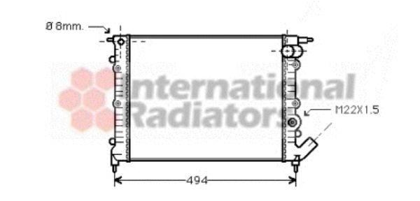 Radiateur, refroidissement du moteur - VWA - 88VWA43002132