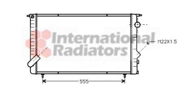 Radiateur, refroidissement du moteur - VAN WEZEL - 43002134