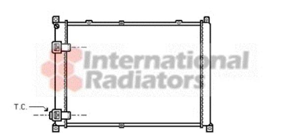 Radiateur, refroidissement du moteur - VAN WEZEL - 43002140