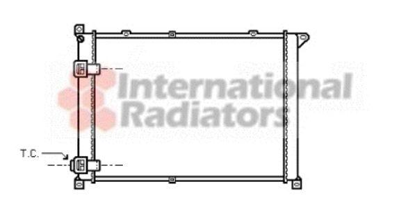 Radiateur, refroidissement du moteur - VAN WEZEL - 43002141