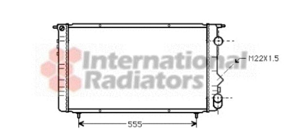Radiateur, refroidissement du moteur - VAN WEZEL - 43002150