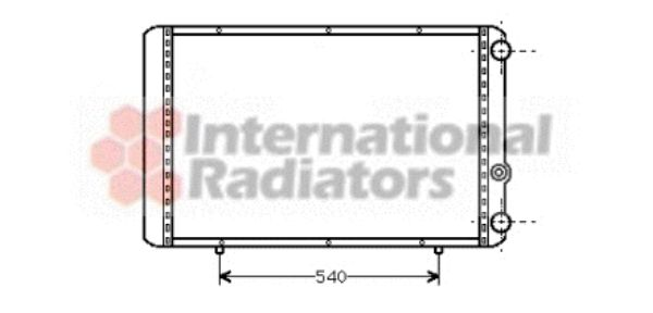 Radiateur, refroidissement du moteur - VAN WEZEL - 43002155