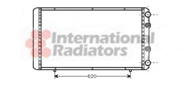 Radiateur, refroidissement du moteur - VAN WEZEL - 43002156
