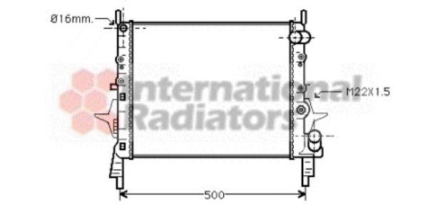 Radiateur, refroidissement du moteur - VAN WEZEL - 43002158