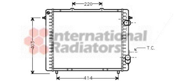 Radiateur, refroidissement du moteur - VAN WEZEL - 43002159