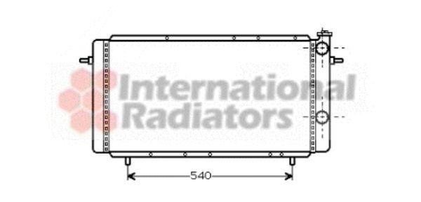 Radiateur, refroidissement du moteur - VAN WEZEL - 43002160