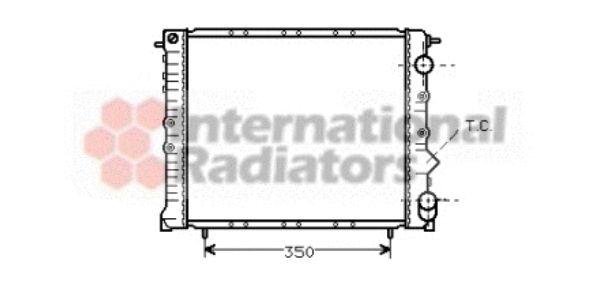 Radiateur, refroidissement du moteur - VAN WEZEL - 43002162