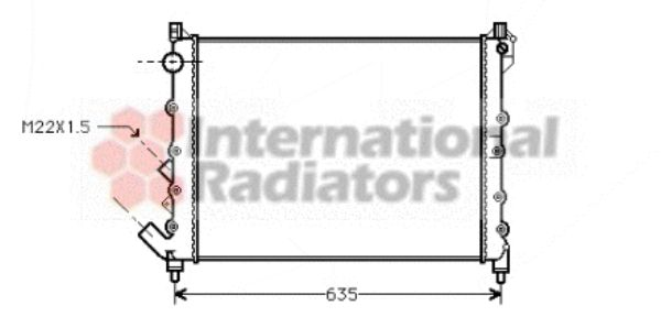 Radiateur, refroidissement du moteur - VAN WEZEL - 43002164