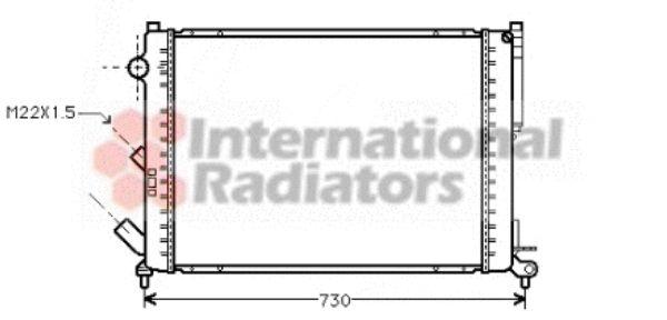 Radiateur, refroidissement du moteur - VAN WEZEL - 43002165
