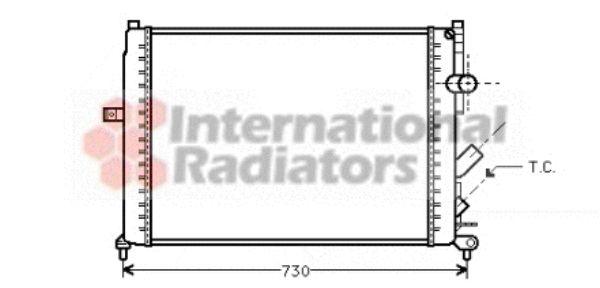 Radiateur, refroidissement du moteur - VAN WEZEL - 43002166