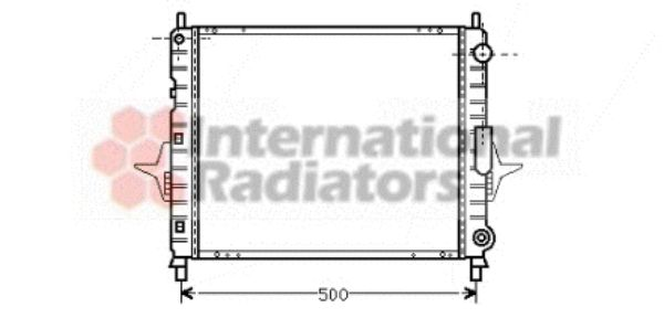 Radiateur, refroidissement du moteur - VAN WEZEL - 43002167