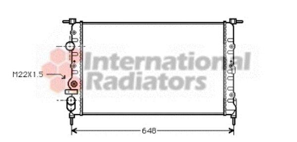 Radiateur, refroidissement du moteur - VAN WEZEL - 43002198