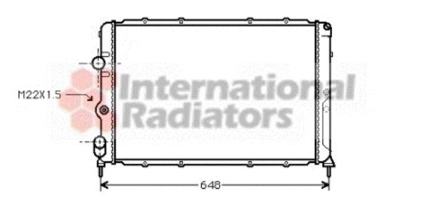 Radiateur, refroidissement du moteur - VAN WEZEL - 43002199