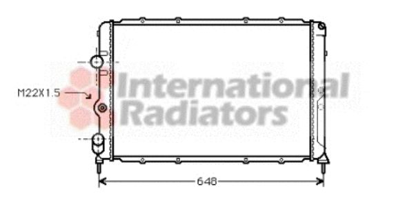 Radiateur, refroidissement du moteur - VAN WEZEL - 43002203