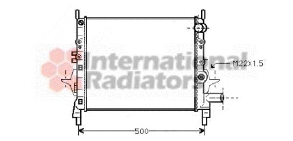 Radiateur, refroidissement du moteur - VAN WEZEL - 43002206