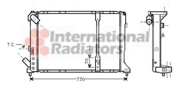 Radiateur, refroidissement du moteur - VAN WEZEL - 43002208
